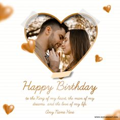 Wishes For Husband, Birthday Wish For Husband, Husband Love, Greeting Card Maker, Online Greeting Cards, Custom Greeting Cards, Heart Shaped Frame, Heart Frame, Birthday Wishes With Photo