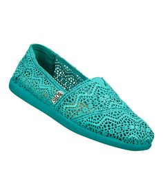 Take+a+look+at+the+BOBS+from+Skechers+Turquoise+World+Labyrinth+Slip-On+Shoe+on+#zulily+today!
