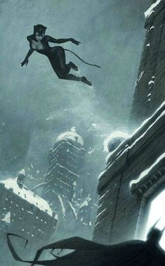 Catwoman and Batman in a very snowy day in Gotham. Batman Et Catwoman, Dc Batgirl, I Am Batman, Batman Art, Batman Arkham, Batman Robin, Comic Book Characters, Comic Book Heroes, Comic Character