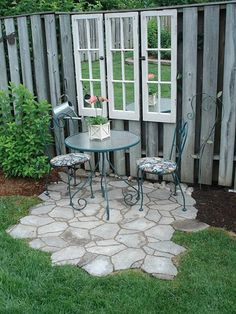 23 Easy-to-Make Ideas Building a Small Backyard Seating Area - Easy Diy Garden Projects Backyard Seating, Small Backyard Landscaping, Backyard Patio, Backyard Ideas, Landscaping Ideas, Patio Ideas, Fence Ideas, Modern Backyard, Large Backyard