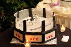 Grooms Cake / UFC Cake My husband LOVED it! :)