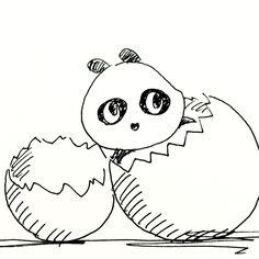 【一日一大熊猫】2016.8.25 世界初の即席麺はチキンラーメンという事になっているけど、 少し前にも同じ様な商品があったとか。 まぁどーあれ成功したのはチキンラーメン。 #パンダ #チキンラーメン