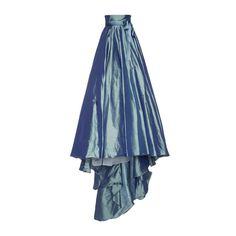 Luisa Beccaria Taffeta Full Skirt ($4,535) ❤ liked on Polyvore featuring skirts, blue skirt, blue high waisted skirt, high rise skirts, knee length a line skirt and full taffeta skirt