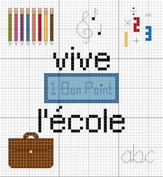 1000 images about ecole on pinterest cross stitch - Broderie point de croix grilles gratuites ...