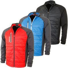 Sunice 2016 Mens Huxley Thermal Hybrid Climaloft Windproof Golf Jacket S72000