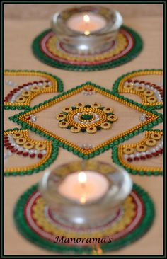A personal favorite from my Etsy shop https://www.etsy.com/listing/264939255/floor-art-multi-color-kundan