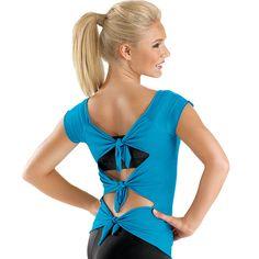 Short Sleeve Tie-Back Tee; Balera