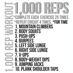 1,000 Rep Workout + Strawberry Banana Protein Slammer +