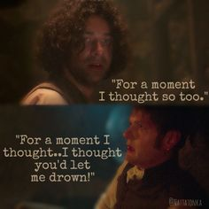 """For a moment I thought you'd let me drown!"" - Ross & Francis #Poldark (by @Nattatonka)"