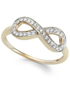 wrapped Diamond Infinity Ring in YellOra (1/6 ct. t.w.)