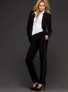 Creative Womens Tuxedo Pants Pleated With Pockets  Perfect Tux