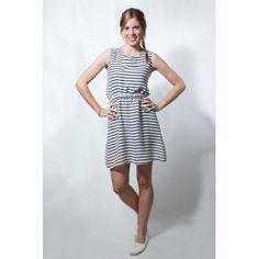 La Nuit Boutique Vestido rayas blancas y azules   http://www.pretalist.com/vestidos-casual/la-nuit-boutique/vestido-rayas-blancas-y-azules-p-11970
