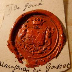 Vintage seal impression.