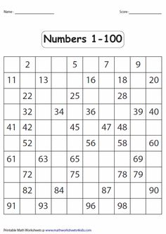 5 Best Images of Hundred Printable 100 Number Chart Partially Filled In - Free Hundred Printable 100 Chart, 100 Chart Fill in Missing Number Worksheet and Printable Fill in the Blank Hundreds Chart This page contains a lot of printable number charts up to Printable Math Worksheets, Kindergarten Math Worksheets, Number Worksheets, Teaching Math, Math Activities, Maths, Pre Kindergarten, Alphabet Worksheets, 100 Number Chart