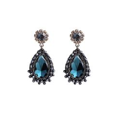 LINNI CRYSTAL CROCHET EARRING  ||  Item description: Fabric thread Crystal beads Blue colour glass stone Crystal flower earring pins Earring about 5cm long Material: LINNI CRYSTAL CROCHET EARRING https://www.mymallmetro.com/products/linni-crystal-crochet-earring?utm_campaign=crowdfire&utm_content=crowdfire&utm_medium=social&utm_source=pinterest