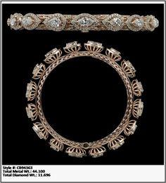 Diamond Bangle, Diamond Jewelry, Gold Jewelry, Jewelry Necklaces, Jewellery, Bangle Bracelets, Bangles, Wedding Rings Solitaire, Indian Jewelry