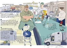 Olivier Kugler uses distortion, anecdotal notes, etc. to interview people in the real world.