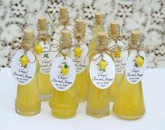96 Bottles Tags AND Lemon Charms Limoncello Bottles Tags Lemon Charms Limoncello Favor Empty Bottles Corked Glass Bottles Lemoncello Favors Bridal Shower Favors, Wedding Favours, Wedding Themes, Sunflower Wedding Favors, Limoncello Recipe, Lemon Party, Empty Bottles, Glass Bottles, Wedding Bottles