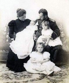Alexandra, Baby Maria, Nicholas, Tatiana and Olga
