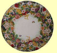 MAJOLICA MONTELUPO PAPPAGALLO: Wall Plate (26D) | Dinnerware ...