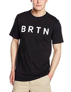 Burton BRTN Slim Mens T-Shirt Short Sleeve Black true black Size:L andlt
