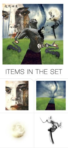"""Tornado no.1 ""To be born again, first you have to die"""" by justange ❤ liked on Polyvore featuring art"