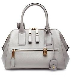 9d3b8d0fea Marc Jacobs Small Incognito Textured-Leather Bag Light Grey Μοδάτες Τσάντες