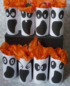 Cómo decorar en halloween utilizando rollos de papel y realizando manualidades…