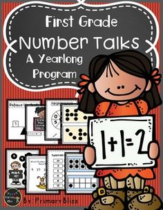 Do you want to do number talks in your first grade classroom but feel overwhelmed with the thought of planning a lesson each day?  If so, this is the product for you.  This year-long (180 lessons), common core aligned Number Talks Program is specifically designed for first grade and guaranteed to get your students highly engaged in mathematical discourse. #NumberTalks