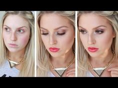 GRWM ♡ 100% Drugstore Affordable Daytime Red Lips, Bronze Eyes! - YouTube