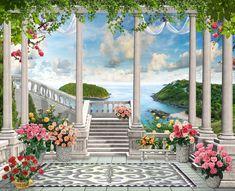 Фотообои Царство роз на террасе