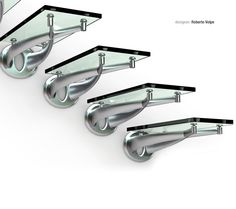 TWIN by Roberto Volpe - Straight staircase / stainless steel frame / glass steps / without risers by FARAONE Srl Staircase Railing Design, Open Staircase, Floating Staircase, Stair Design, Stairs To Heaven, Glass Stairs, Modern Stairs, Commercial Design, Stairways
