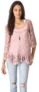Free people Scallop Lace Top on shopstyle.com