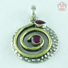 Abstract Beautiful Design 925 Sterling Silver Ruby Agate Pendant Jewellery P2679  | eBay