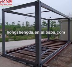 Container frame: Having no cladding and dropped 40 feet the frame landing on the bottom, corner, give a boundary in affect from numerical analysis performed. Container Coffee Shop, Container Homes For Sale, Container Office, Shipping Container House Plans, Building A Container Home, Container Buildings, Container Architecture, Container House Design, 40ft Container