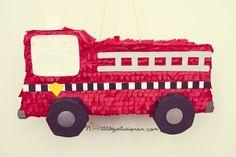Piñata Camión de Bombero 3rd Birthday, Birthday Parties, Happy Birthday, Fire Trucks, Firefighter, Toys, School Stuff, Party Ideas, Cars