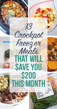 Here are 10 crockpot chicken freezer recipes with the same simple combination of chicken breasts, fresh veggies, and seasonings. They're healthy, delicious, and so easy to make!!   CLICK HERE FOR A PR