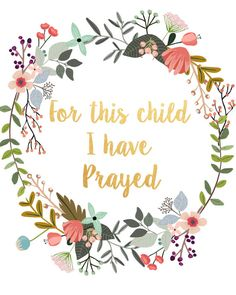 For This Child I Have Prayed Printable by PaperStormPrints on Etsy