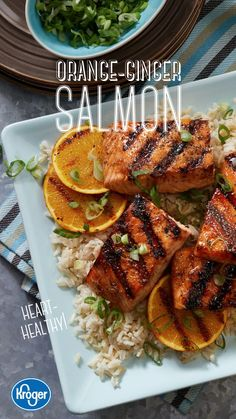 Guacamole Recipe Discover Orange-Ginger Salmon An Asian-style marinade transforms heart-healthy salmon into a satisfying main dish. Grill up this sweet tangy recipe and enjoy a tasty summer cookout. Get the complete recipe and ingredients from Fred Meyer! Salmon Recipes, Fish Recipes, Recipies, Ginger Salmon, My Burger, Carnivore, Clean Eating, Healthy Eating, Cooking Recipes