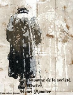 Otez l'homme de la société vous isoles Henri Monnier,gif animé