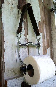 Unique horse bit  toilet paper holder on Etsy, $28.00