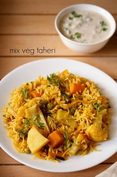 vegetable tahiri recipe – aromatic and spiced one pot rice based dish from the uttar pradesh cuisine  ‪#‎vegetarianfood‬ ‪#‎vegrecipesofindia‬
