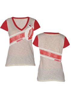 Pro Line Kansas City Chiefs Women's Cotton V-Neck Sweater - Red