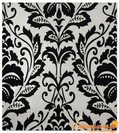 Retro Tapete Flock 3 255419 2554-19 schwarz weiß