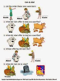 Cain & Abel Worksheet @ Bible Fun For Kids