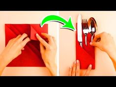 7 Napkin Folding Techniques That Will Blow Your Guests Away - YouTube