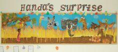 Handa's Surprise classroom display photo - Photo gallery - SparkleBox School Displays, Classroom Displays, Classroom Ideas, Handas Surprise, Surprise Ideas, Vegetable Prints, Class Decoration, Kindergarten Classroom, Photo Displays