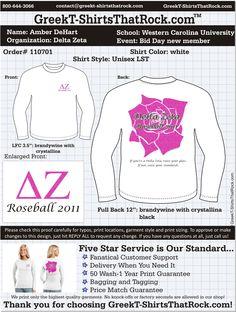 Delta Zeta Roseball T-Shirt by Greek T-Shirts That Rock
