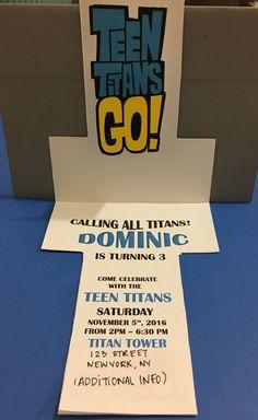Teen titans go Handmade invitations by HandmadedecorDesigns