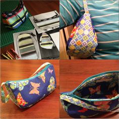 Copycat (literally) of LeSportsac small hobo bag. I sewed it up like a pouch - there are tons of free tutorials for those!